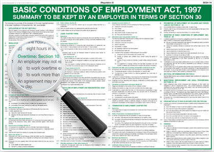 Basic conditions of the Employment act