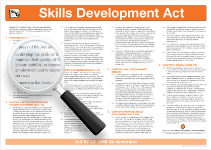 Summary of the Skills Development Act Wall chart