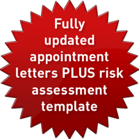 Fully updated appointment letters PLUS risk assessment template