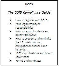 COID Compliance Guide Index