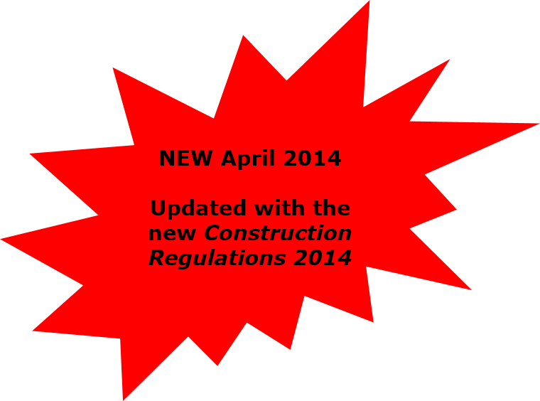Now updated with the New Construction Regulations 2014