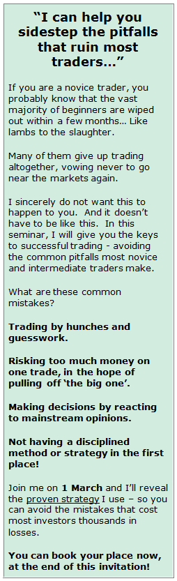 I can help you sidestep the pitfalls that ruin most traders!