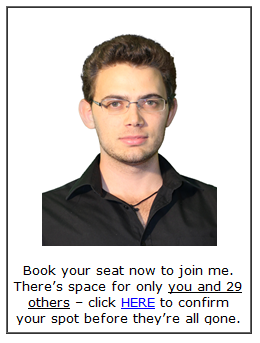 Book your seat now!