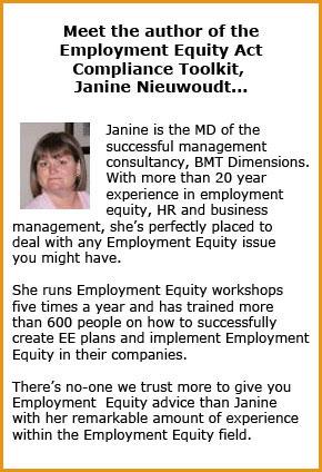 Employment Equity Act Compliance Toolkit Janine Nieuwoudt